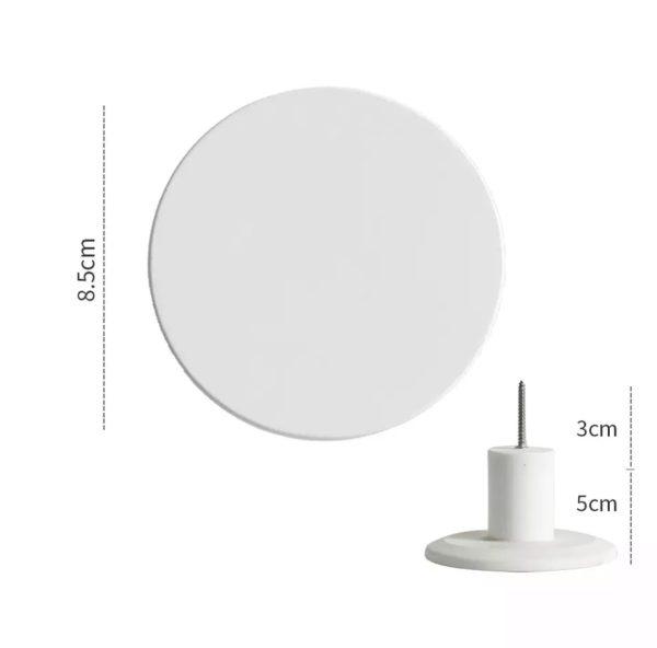 Wandhaak wit 8,5 cm kopen?